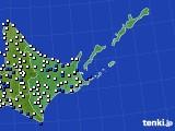 2016年06月15日の道東のアメダス(風向・風速)