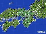 2016年06月17日の近畿地方のアメダス(風向・風速)