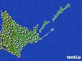 2016年06月18日の道東のアメダス(風向・風速)