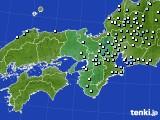 2016年06月19日の近畿地方のアメダス(降水量)