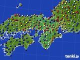2016年06月20日の近畿地方のアメダス(日照時間)