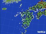 九州地方のアメダス実況(日照時間)(2016年06月20日)