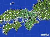 2016年06月20日の近畿地方のアメダス(風向・風速)