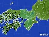 2016年06月22日の近畿地方のアメダス(降水量)