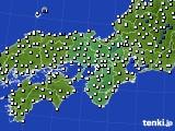 2016年06月22日の近畿地方のアメダス(風向・風速)