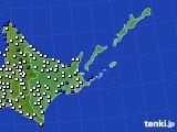 2016年06月22日の道東のアメダス(風向・風速)