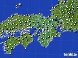 2016年06月23日の近畿地方のアメダス(風向・風速)