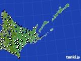 2016年06月23日の道東のアメダス(風向・風速)