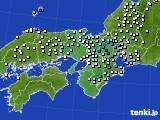 2016年06月24日の近畿地方のアメダス(降水量)