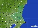 茨城県のアメダス実況(風向・風速)(2016年06月24日)