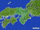 2016年06月25日の近畿地方のアメダス(降水量)