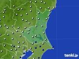 茨城県のアメダス実況(風向・風速)(2016年06月25日)