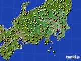 関東・甲信地方のアメダス実況(気温)(2016年06月26日)