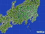 関東・甲信地方のアメダス実況(風向・風速)(2016年06月26日)