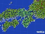 2016年06月27日の近畿地方のアメダス(日照時間)