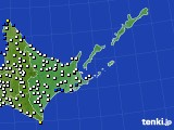 2016年06月27日の道東のアメダス(風向・風速)