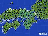 2016年06月28日の近畿地方のアメダス(日照時間)