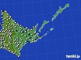 2016年06月28日の道東のアメダス(風向・風速)