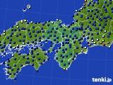 2016年06月30日の近畿地方のアメダス(日照時間)