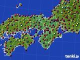 2016年07月01日の近畿地方のアメダス(日照時間)