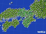 2016年07月01日の近畿地方のアメダス(風向・風速)