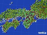 2016年07月02日の近畿地方のアメダス(日照時間)