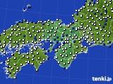 2016年07月02日の近畿地方のアメダス(風向・風速)