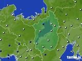2016年07月02日の滋賀県のアメダス(風向・風速)