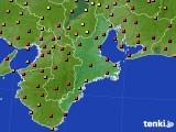2016年07月04日の三重県のアメダス(気温)