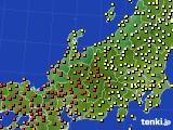 北陸地方のアメダス実況(気温)(2016年07月05日)