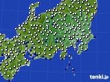 関東・甲信地方のアメダス実況(風向・風速)(2016年07月05日)