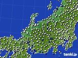 北陸地方のアメダス実況(風向・風速)(2016年07月05日)