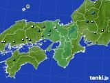 近畿地方のアメダス実況(降水量)(2016年07月31日)