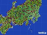 関東・甲信地方のアメダス実況(日照時間)(2016年07月31日)