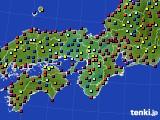 近畿地方のアメダス実況(日照時間)(2016年07月31日)