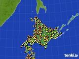 北海道地方のアメダス実況(気温)(2016年07月31日)