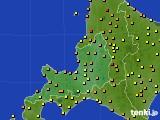 2016年07月31日の道央のアメダス(気温)