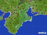 2016年07月31日の三重県のアメダス(気温)