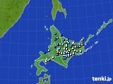 北海道地方のアメダス実況(降水量)(2016年08月01日)