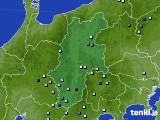 長野県のアメダス実況(降水量)(2016年08月01日)