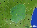 2016年08月01日の栃木県のアメダス(日照時間)