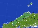 島根県のアメダス実況(風向・風速)(2016年08月01日)
