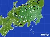 関東・甲信地方のアメダス実況(降水量)(2016年08月02日)