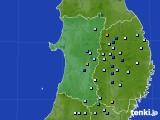 2016年08月02日の秋田県のアメダス(降水量)