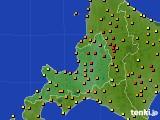 2016年08月02日の道央のアメダス(気温)