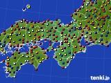 近畿地方のアメダス実況(日照時間)(2016年08月03日)