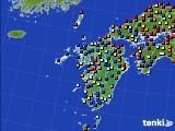九州地方のアメダス実況(日照時間)(2016年08月03日)