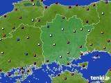 岡山県のアメダス実況(日照時間)(2016年08月03日)
