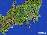 関東・甲信地方のアメダス実況(気温)(2016年08月03日)