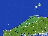 島根県のアメダス実況(風向・風速)(2016年08月03日)
